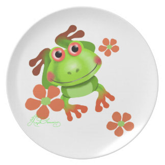 Cute Funny Tree Frog Plates