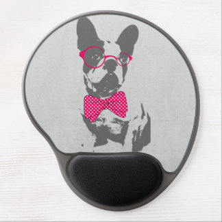 Cute funny trendy vintage animal French bulldog Gel Mouse Pad