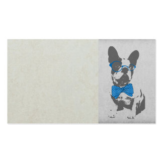 Cute funny trendy vintage animal French bulldog Pack Of Standard Business Cards