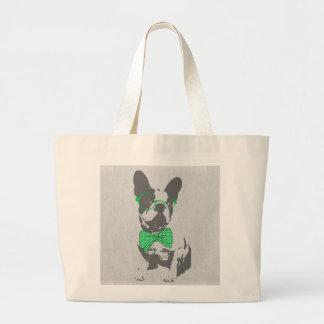 Cute funny trendy vintage animal French bulldog Bag