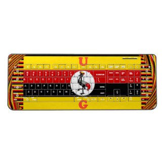 Cute Funny U G national  flag colors Wireless Keyboard