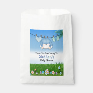 Cute Funny Washing Line Baby Boy Shower Favour Bags