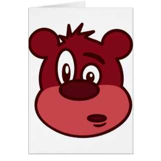 Cute Funny Winking Bear Card