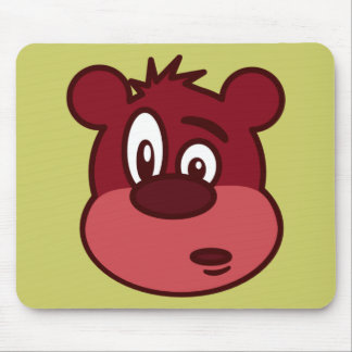 Cute Funny Winking Bear Mouse Pad