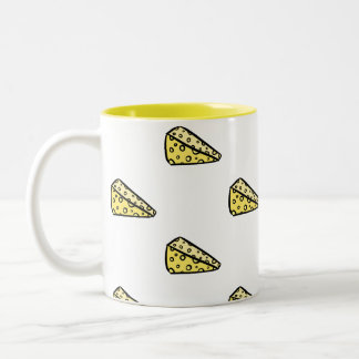 Cute Funny Yellow I Love Cheese Foodie Coffee Mug