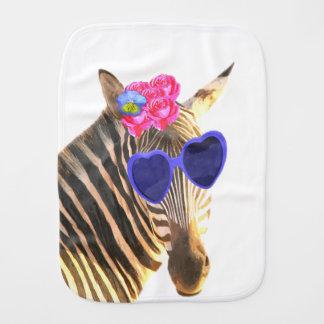 Cute funny zebra animal baby burp cloth
