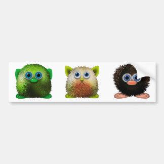 Cute Fuzzy Cartoon Character Art for All Bumper Sticker