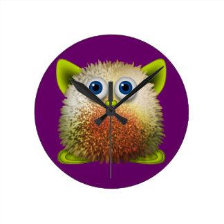 Cute Fuzzy Cartoon Character Art for All Wall Clocks