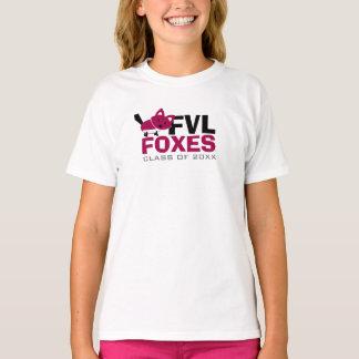 Cute FVL Foxes Design with Custom Grad Year T-Shirt