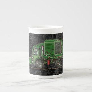 Cute Garbage Truck Trash Truck Bone China Mug