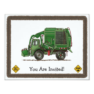Cute Garbage Truck Trash Truck Card