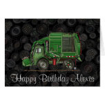 Cute Garbage Truck Trash Truck Greeting Card