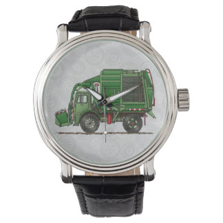 Cute Garbage Truck Trash Truck Wristwatch