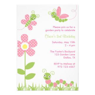 Cute Garden Bugs Invitations Custom Announcements