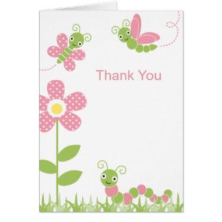 Cute Garden Bugs Note Card