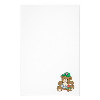 Cute Gardener Bear and Tulip Stationery