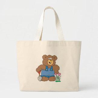 Cute Gardening Bear Jumbo Tote Bag