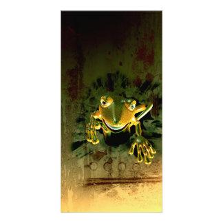 Cute gecko photo card