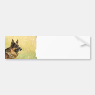 Cute German Shepherd  Bumper Sticker
