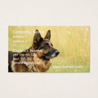 Cute German Shepherd Business Cards
