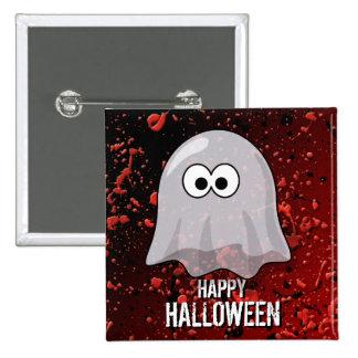 Cute Ghost Blood Splatters Happy Halloween Pin