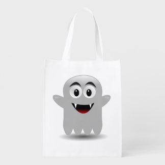 Cute Ghost Halloween Reusable Trick-or-Treat Bag