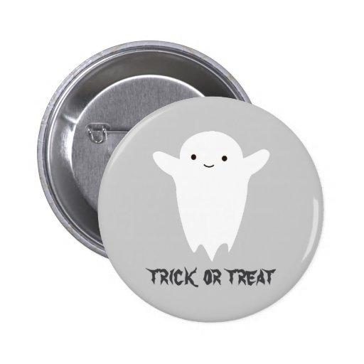 Cute Ghost - Trick or Treat Pin