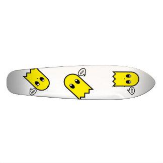 cute ghost  yellow spooky boo skate board deck
