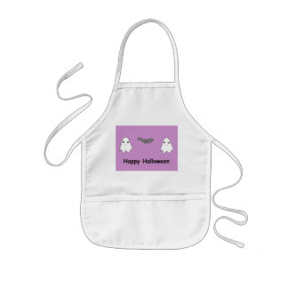 Cute Ghosts and Bat Friends Aprons