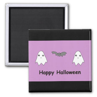 Cute Ghosts and Bat Friends Fridge Magnets