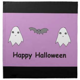 Cute Ghosts and Bat Friends Printed Napkins