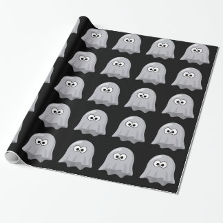 Cute Ghosts Halloween Birthday Wrapping Paper