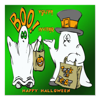 Cute Ghosts Halloween Invitation