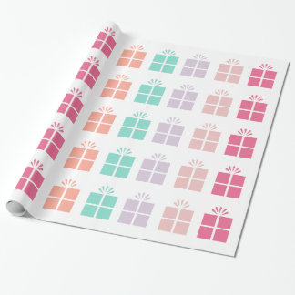 Cute Gift Box Pattern Wrapping Paper