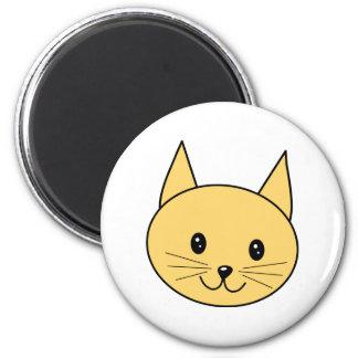 Cute Ginger Cat. 6 Cm Round Magnet
