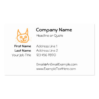 Cute Ginger Cat. Pack Of Standard Business Cards