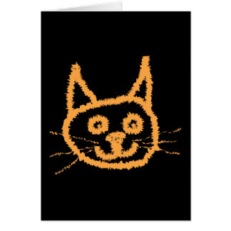 Cute Ginger Cat. Greeting Card