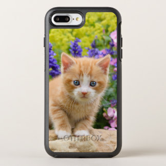 Cute Ginger Cat Kitten in Flowery Garden - protect OtterBox Symmetry iPhone 8 Plus/7 Plus Case