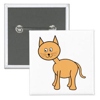 Cute Ginger Cat. Orange Cat Cartoon. Pin
