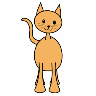 Cute Ginger Cat. Orange Cat Cartoon. Acrylic Cut Outs