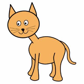 Cute Ginger Cat. Orange Cat Cartoon. Photo Sculptures