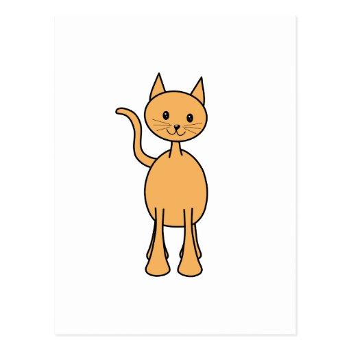 Cute Ginger Cat. Orange Cat Cartoon. Postcards