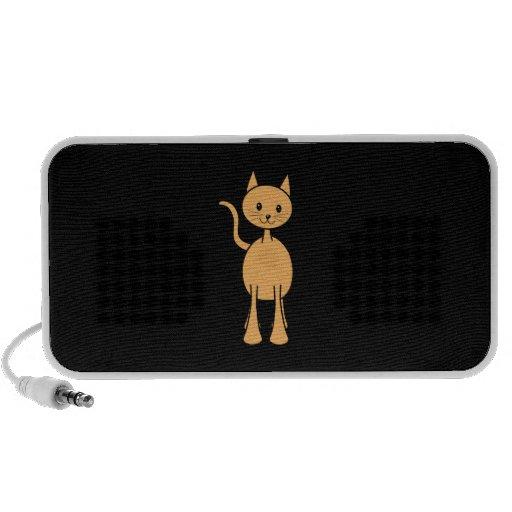 Cute Ginger Cat. Orange Cat Cartoon. Mp3 Speaker