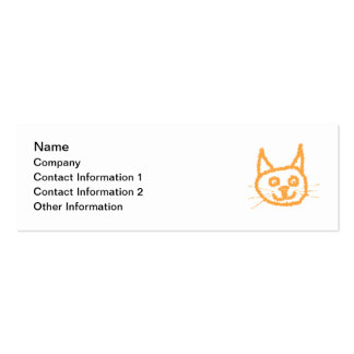Cute Ginger Cat. Pack Of Skinny Business Cards