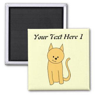 Cute Ginger Cat. Square Magnet