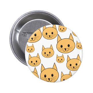 Cute Ginger Cats Pinback Buttons