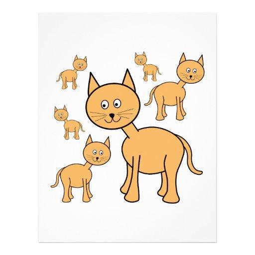 Cute Ginger Cats.  Cat Cartoon. Flyers