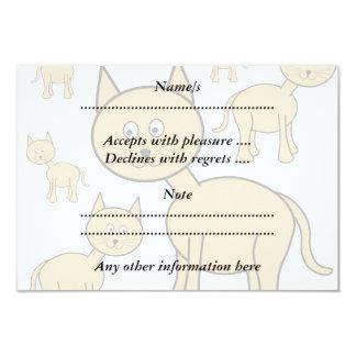 Cute Ginger Cats.  Cat Cartoon. 3.5x5 Paper Invitation Card
