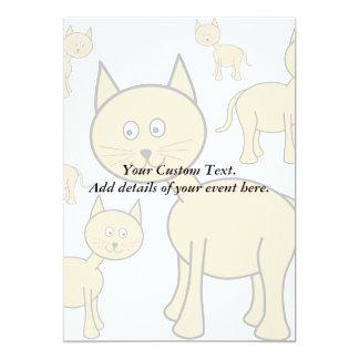 Cute Ginger Cats.  Cat Cartoon. 5x7 Paper Invitation Card