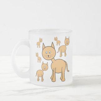 Cute Ginger Cats.  Cat Cartoon. Mugs